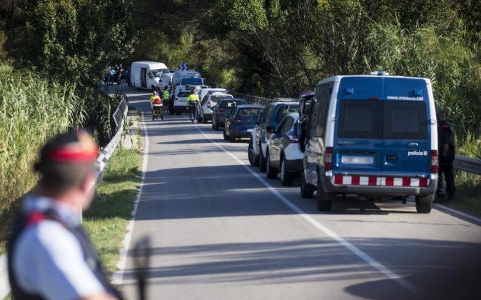 Operativo policial ayer en la zona donde el autor del atentado de La...