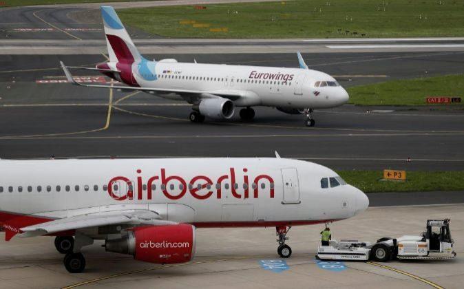 Un avión de la aerolínea Air Berlin.