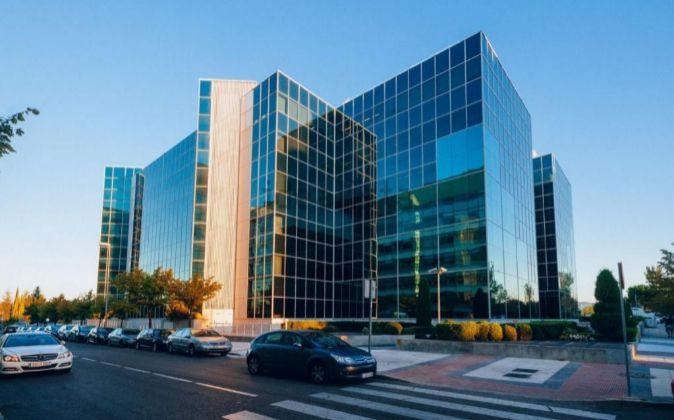Edificio de oficinas Egeo, ubicado en la Avenida Partenón, Madrid