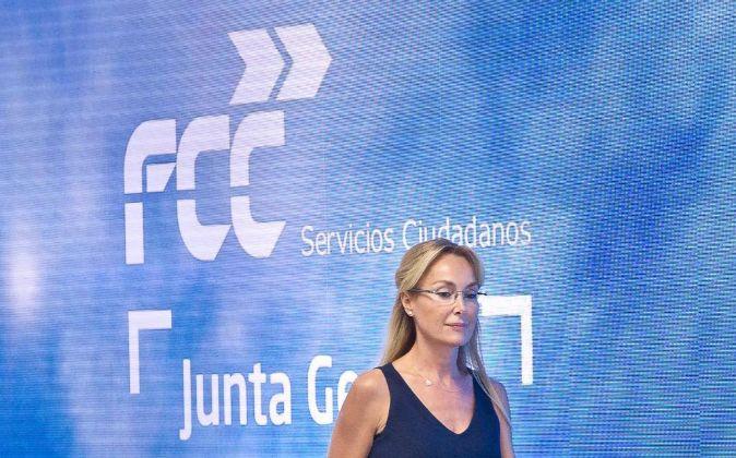 ESTHER ALCOCER KOPLOWITZ, EN LA JUNTA DE ACCIONISTAS 2017 DE FCC. FOTO...