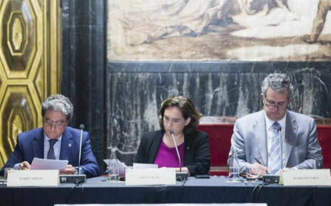 La alcaldesa Ada Colau ha presidido la reunión de la Junta Local de...