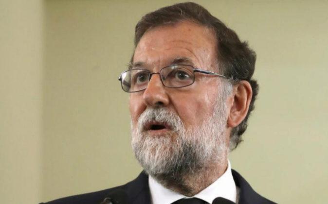 El presidente del Gobierno, Mariano Rajoy, el pasado jueves durante la...