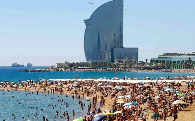 Hotel W, en Barcelona.