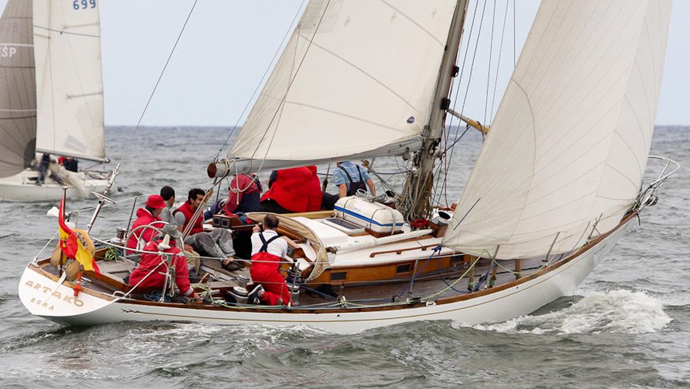 El velero Artako de Juan Olábarri, con quince triunfos en la regata,...