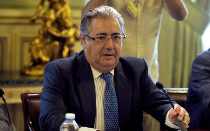 El ministro del Interior, Juan Ignacio Zoido, el pasado viernes...