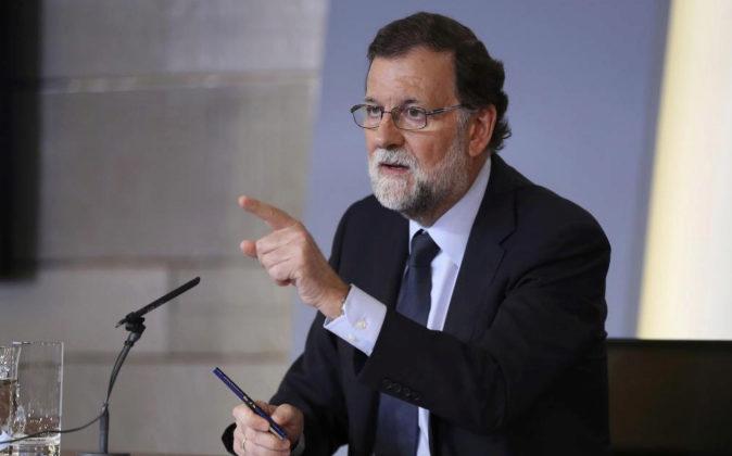 El presidente del Gobierno, Mariano Rajoy, el pasado viernes durante...