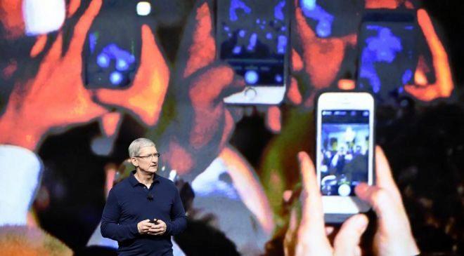Tim Cook, CEO de Apple, durante la presentación del iPhone 7.