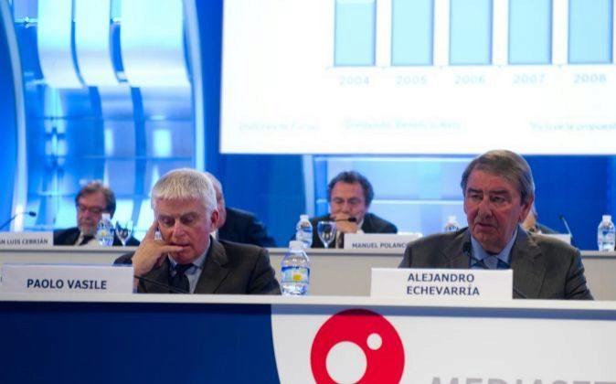 Junta de accionistas de Mediaset. En la imagen, Paolo Vasile consejero...