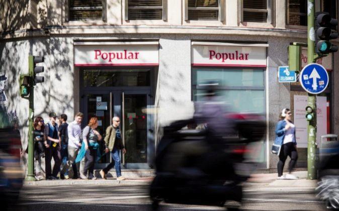 Sucursal de Banco Popular en Madrid.