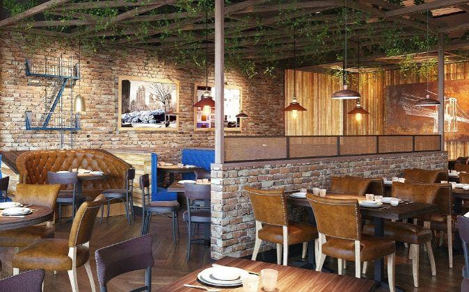 Imagen del primer restaurante de Blue Frog en España.