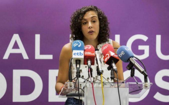La secretaria general de Podemos Euskadi, Nagua Alba, interviene en la...