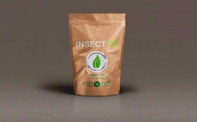 Envase de avena elaborada a base de insectos.