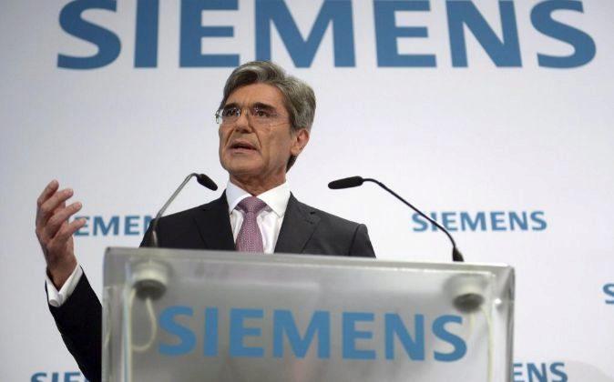 El presidente y director ejecutivo de Siemens, Joe Kaeser.