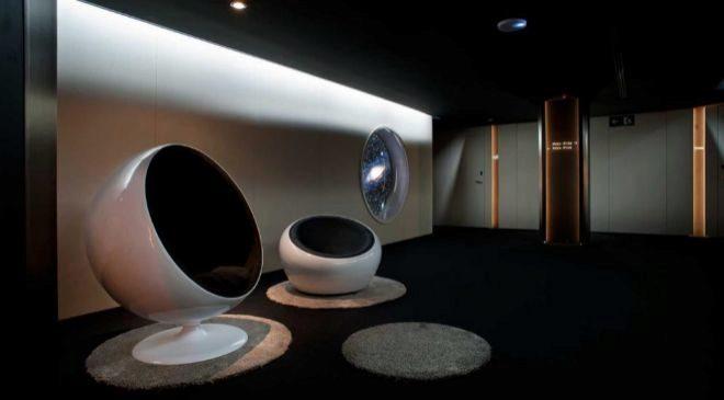 Espacio de descanso en el Hotel Barcelona Sants, en la Ciudad Condal.