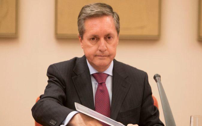 Santiago Menéndez, director de la Agencia Tributaria, en el Congreso.