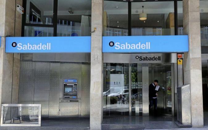 Oficina de Banco Sabadell en Barcelona.
