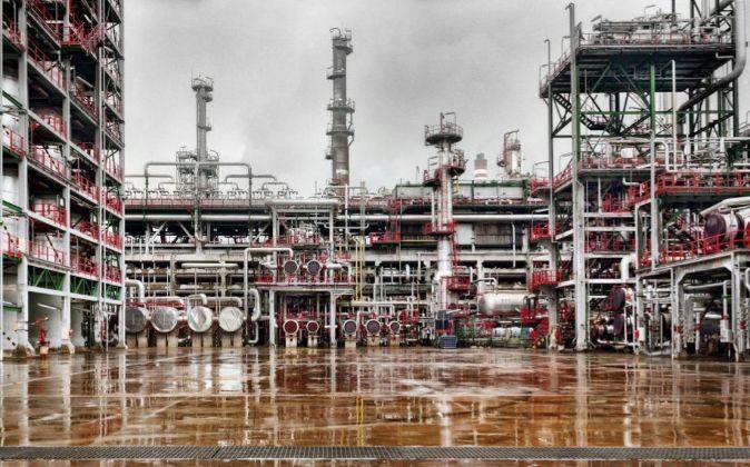 Planta de refinería de Repsol en Puertollano.