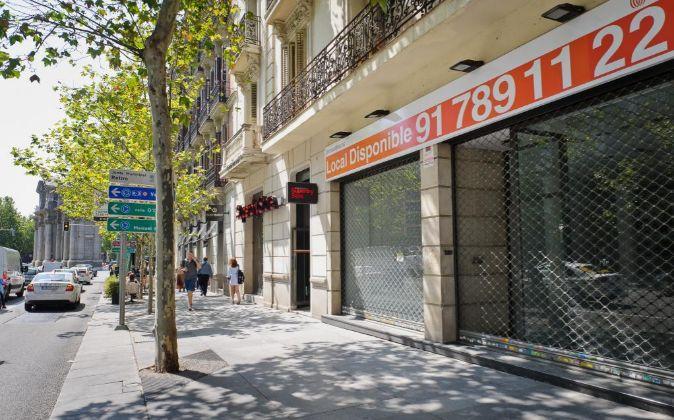 Foto de la futura tienda de Tesla en Madrid.