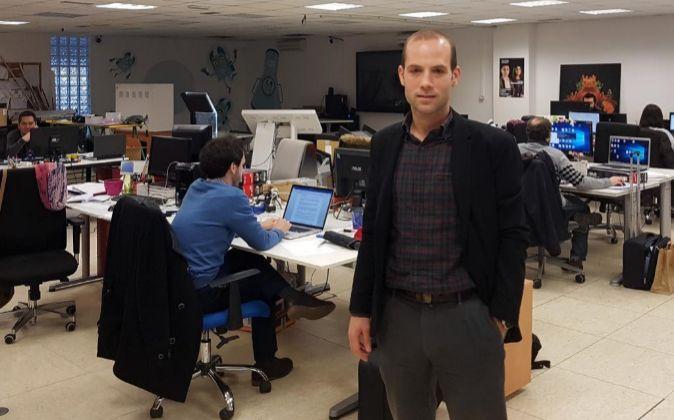 Unai Extremo, CEO de Virtualware, en la sede de Basauri.