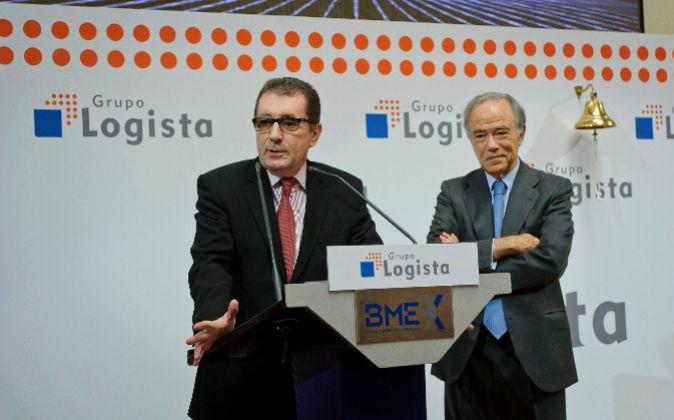 Luis Egido, consejero delegado de Logista, y Gregorio Marañón,...