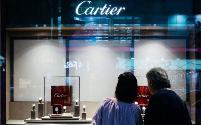 Tienda de Cartier en Hong Kong.