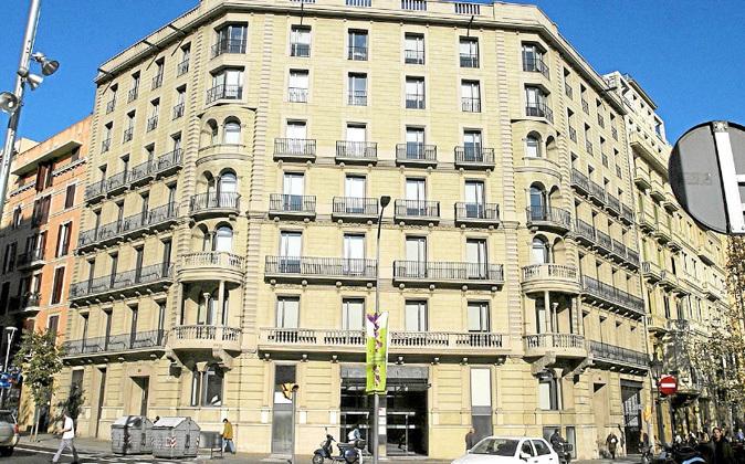 Sede del Institut Català de Finances en la Gran Via de Barcelona.