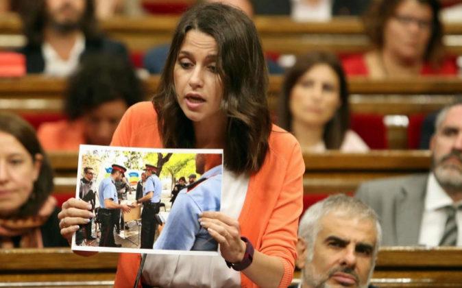 La presidenta del grupo parlamentario de Ciudadanos, Inés Arrimadas,...