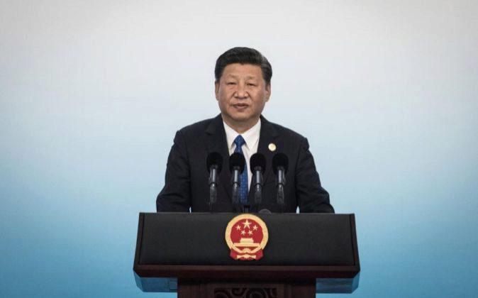 El presidente chino, Xi Jinping, ofrece una rueda de prensa en el...