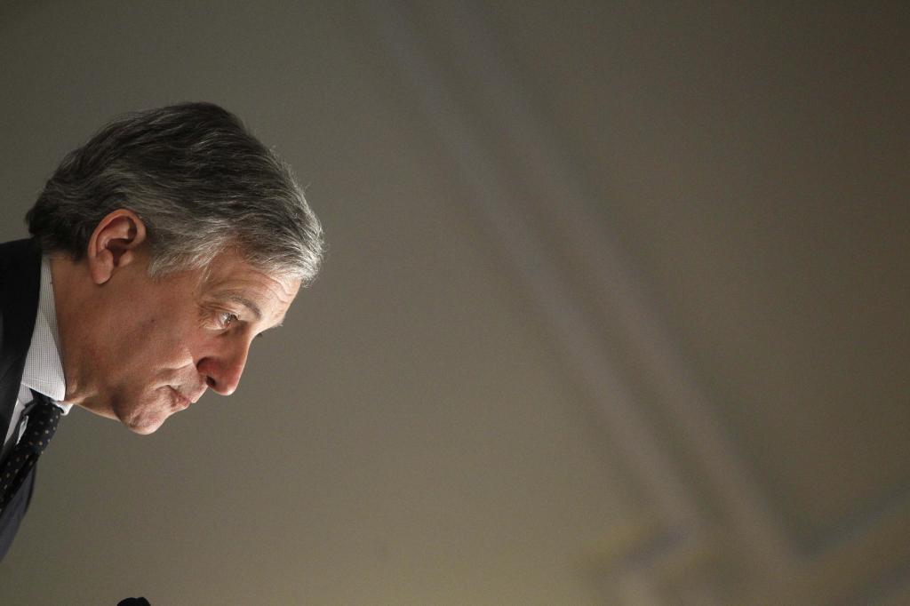 El presidente del Parlamento Europeo, Antonio Tajani, en una foto de...