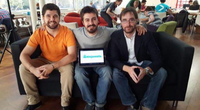 De izq. a dcha., Aldo Castelli, COO; Fausto Escrigas, CEO y Carlos...