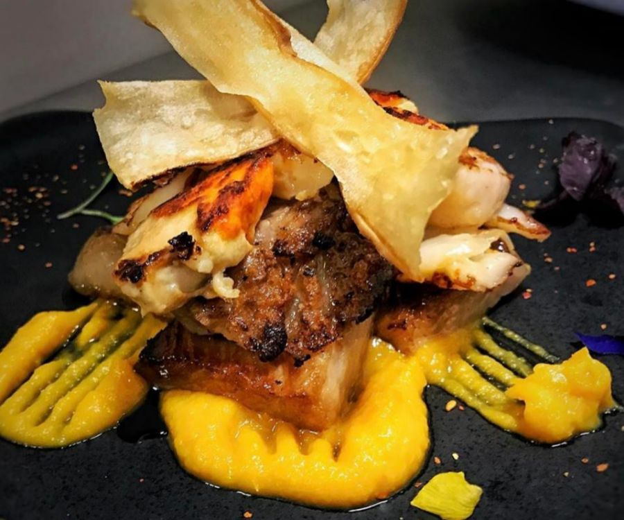 Los platos de Morgana combinan los productos de raíz gallega con...