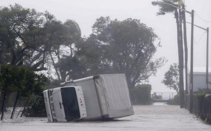 Imagen de los efectos del huracán Irma en Miami (EEUU)