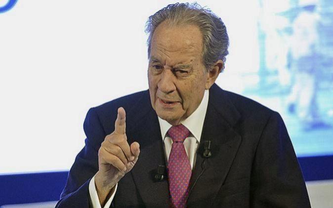 Juan Miguel Villar Mir, expresidente de OHL durante la junta de la...