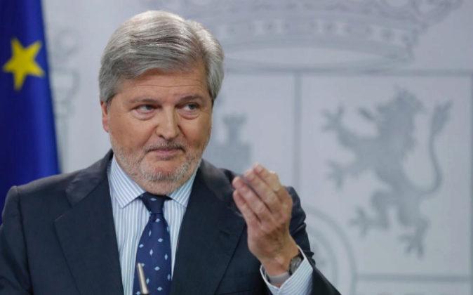 El ministro de Cultura y portavoz del Gobierno, Íñigo Méndez de...