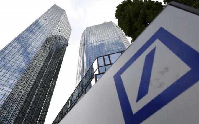 Sede de Deutsche Bank en Fráncfort.