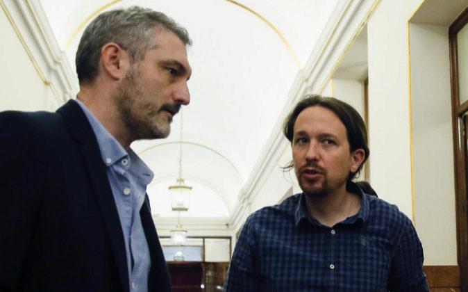 El portavoz y Secretario General de Podemos Murcia Óscar Urralburu,...