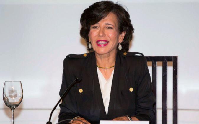 Ana Botín durante la presentación del Informe CYD.