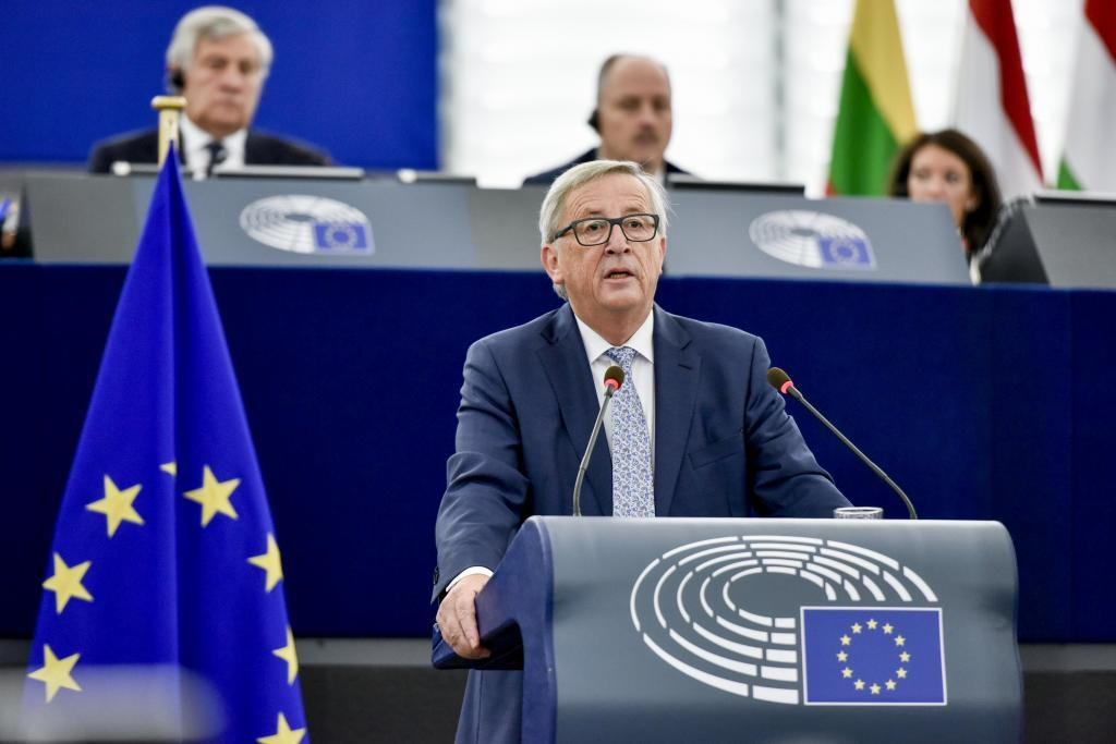 El presidente de la Comisión Europea, Jean-Claude Juncker, preside el...