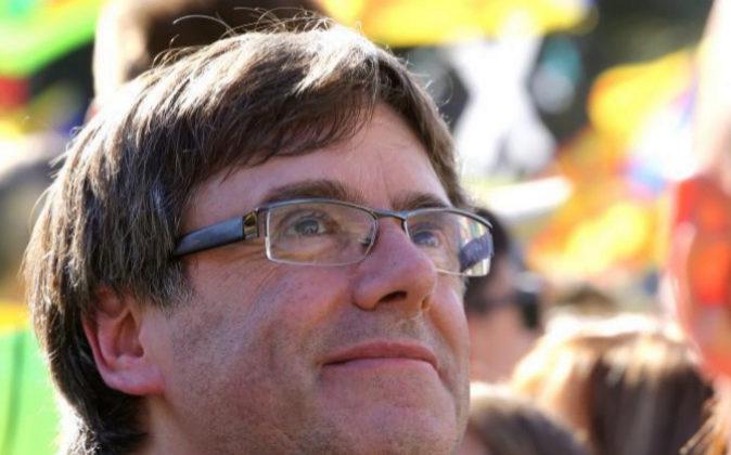 Puigdemont el pasado lunes durante la manifestación de la Diada.