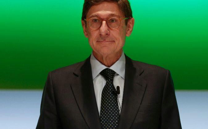 José Ignacio Goirigolzarri, al inicio de la junta.