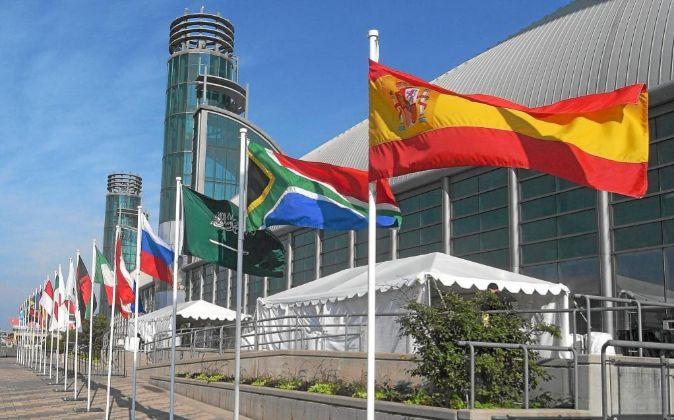 Banderas de distintos países del G20.