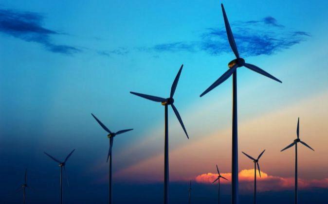 Imagen de una instalación eólica