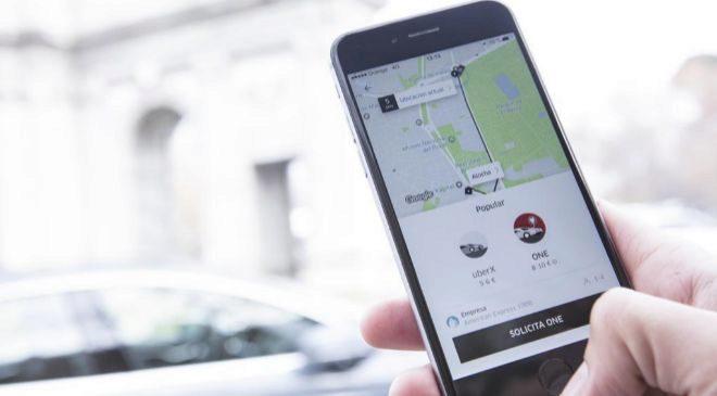 Aplicación de Uber.