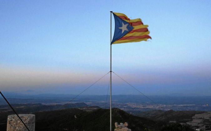 La 'estelada', bandera independentista de Cataluña.