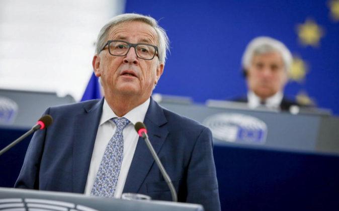 El presidente de la Comisión Europea, Jean-Claude Juncker, anteayer...