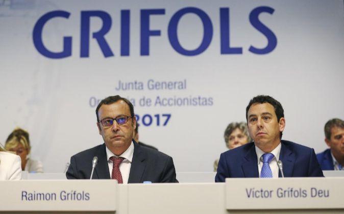 Imagen de la última junta de accionistas de Grifols