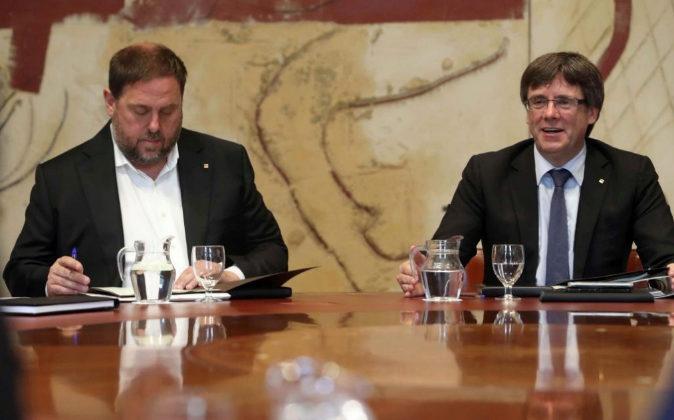 El vicepresidente y el presidente de la Generalitat de Catalunya,...