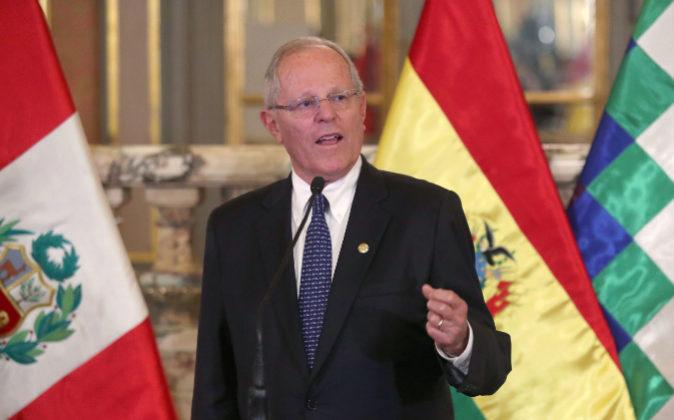 El presidente de Perú, Pedro Pablo Kuczynski,