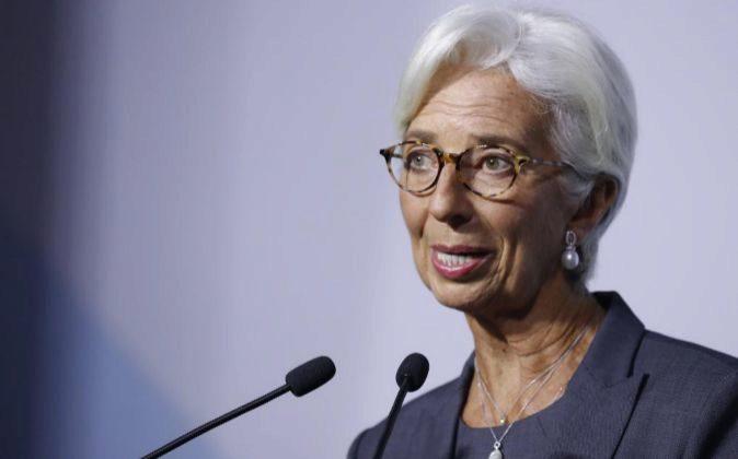 Christine Lagarde, directora general del Fondo Monetario...