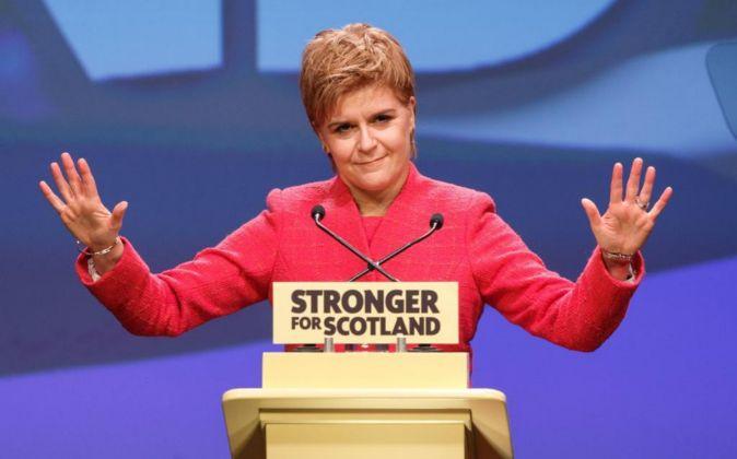 Primera ministra de Escocia,  Nicola Sturgeon.